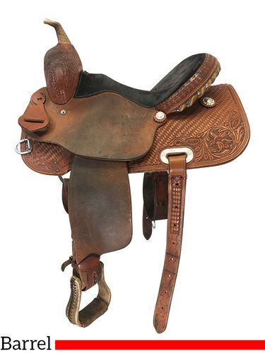 15 Inch Used Cactus Saddlery Saguaro Barrel Saddle  *Free Shipping*