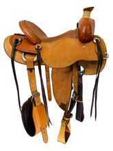 15 Inch Used Cashel Drover Roughout All Around Saddle CD *Free Shipping*