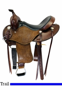 15 Inch Used Cashel Roughout Trail Saddle SA-CT-R *Free Shipping*