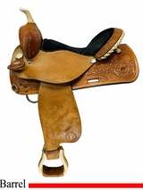 PRICE REDUCED! 15inch Used Circle Y Hand Made Barrel Saddle 2371 uscy4507 *Free Shipping*