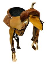 SOLD 2019/08/02  PRICE REDUCED! 15inch Used Circle Y Hand Made Barrel Saddle 2371 uscy4507 *Free Shipping*