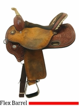 15 Inch Used Circle Y Kelly Kaminski Fly Flex2 Barrel Saddle 1526 *Free Shipping*
