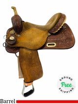 15 Inch Used Circle Y Kelly Kaminski Shining Star Barrel Saddle 2100 *Free Shipping*
