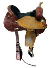 15 Inch Used Circle Y Lisa Lockhart Dynamo Flex2 Barrel Saddle 1545 *Free Shipping*