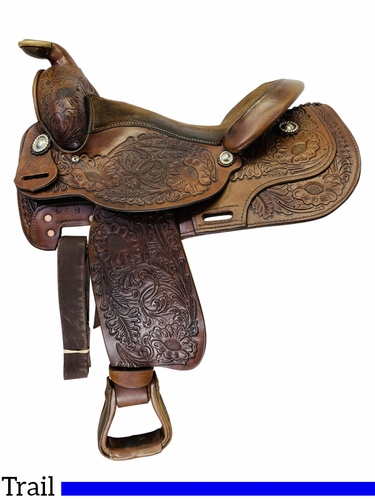 SOLD 2019/11/29  15 Inch Used Circle Y Shiner Park and Trail Saddle 2202 *Free Shipping*