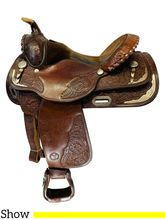 15 Inch Used Circle Y Show Saddle 2136 *Free Shipping*