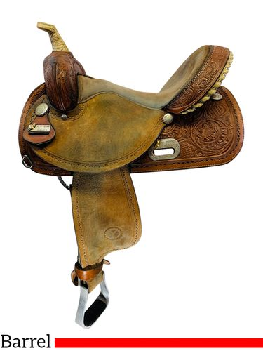 15 Inch Used Circle Y The Proven Rush Barrel Saddle 3029 *Free Shipping*