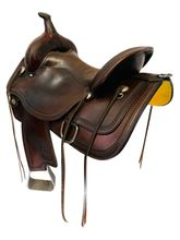 SOLD 2021/03/19 15 Inch Used Circle Y Topeka Trail Saddle Flex2  1651 *Free Shipping*