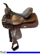 SOLD 2021/04/08 15 Inch Used Circle Y Trail Saddle 3604 *Free Shipping*
