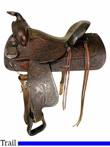 SOLD 2021/10/21  15 Inch Used Circle Y Trail Saddle 3911 *Free Shipping*
