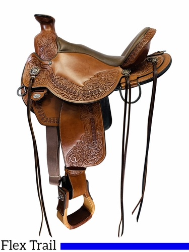 SOLD 2020/07/07  15 Inch Used Circle Y Walnut Grove Flex2 Trail Saddle 1157 *Free Shipping*