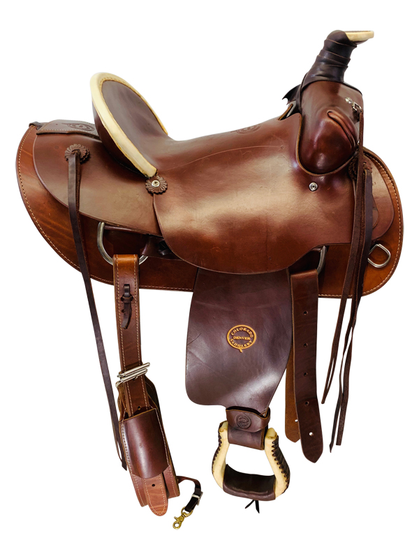 SOLD 2019/06/03 15 Inch Used Colorado Saddlery High Plains All-Around  100-5004 *Free Shipping*