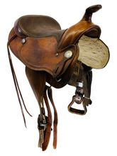 SOLD 2020/07/25  15 Inch Used Crates Trail Saddle 2352 *Free Shipping*