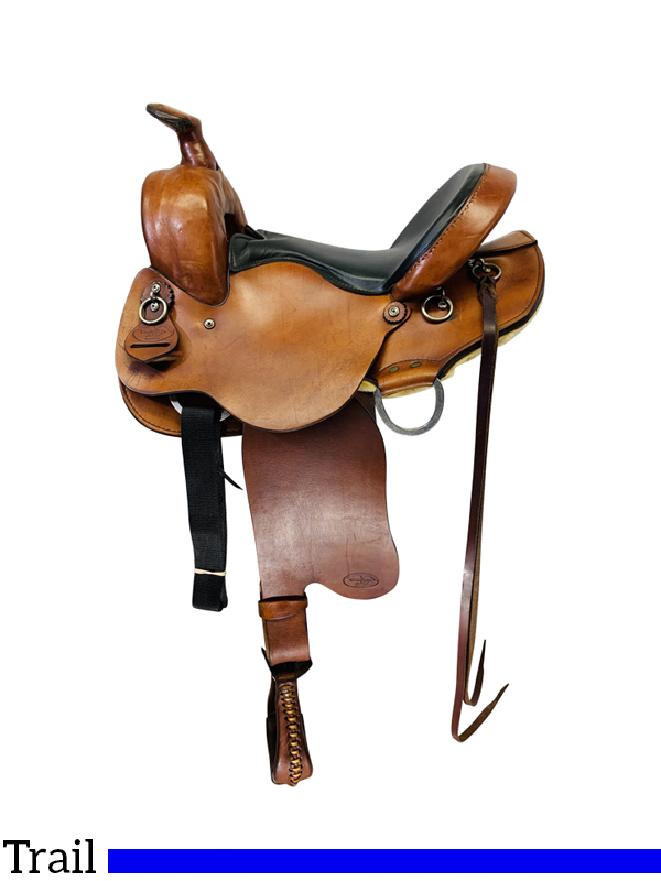 15 Inch Used Crest Ridge Sentry Trail Saddle Custom *Free Shipping*