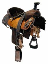 PRICE REDUCED!!15 Inch Used Double J Team Roper Saddle 76584 *Free Shipping*