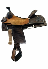 15 Inch Used Double J Team Roper Saddle 76584 *Free Shipping*