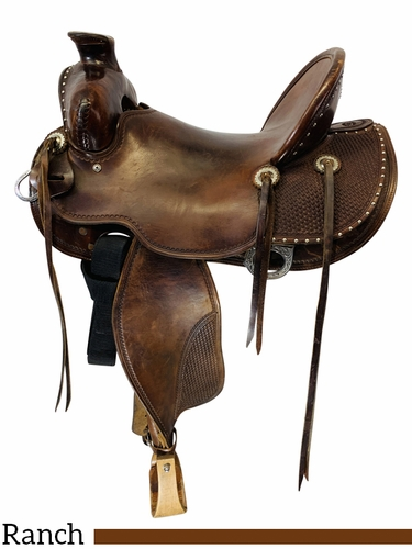 SOLD 04/09/2021 15 Inch Used G. D'ambrose Ranch Saddle  *Free Shipping*