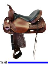 15 Inch Used High Horse by Circle Y Mineral Wells Trail Saddle 6812 *Free Shipping*