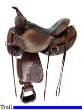 15 Inch Used High Horse Oyster Creek Trail Saddle 6808 *Free Shipping*