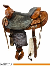 15 Inch Used Leddy of Forth Worth Trail Arena Performance Saddle I40 *Free Shipping*