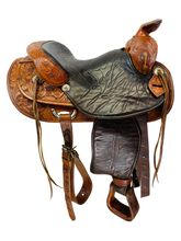 PRICE REDUCED!! 15 Inch Used Leddy of Forth Worth Trail Arena Performance Saddle I40 *Free Shipping*