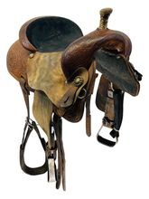 SOLD 2019/10/31  PRICE REDUCED! 15 Inch Used Marlene Eddleman by Circle Y Barrel Racer 1186 *Free Shipping*