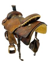 15 Inch Used Martin Saddlery Team Roper Saddle Custom *Free Shipping*