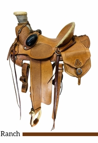 PRICE REDUCED! 15 Inch Used Matt Avery Maker Wade Ranch Saddle 019 *Free Shipping*