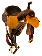 15 Inch Used Mikes Custom Saddles Barrel Saddle Custom *Free Shipping*