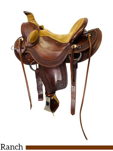 PRICE REDUCED!! 15 Inch Used Olen Miller Saddlery Ranch Wade Saddle 177 *Free Shipping*