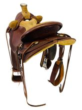 15 Inch Used Olen Miller Saddlery Ranch Wade Saddle 177 *Free Shipping*