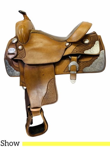 PRICE REDUCED! 15 Inch Used Ortho-Flex Custom Show Saddle *Free Shipping*