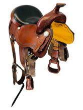 SOLD 2021/03/03  15 Inch Used Reinsman Trail Saddle  *Free Shipping*