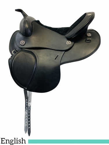 15 Inch Used Schleese Fusion Hybrid Cross Over English Saddle  *Free Shipping*