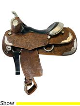 15 Inch Used Silver Mesa Show Saddle  *Free Shipping*