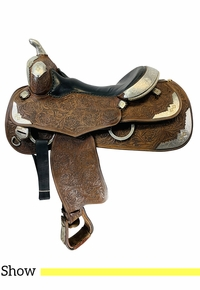 PRICE REDUCED! 15 Inch Used Silver Mesa Show Saddle  *Free Shipping*
