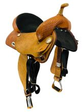 SOLD 2020/09/17 15 Inch Used Tex Tan Flex Barrel Saddle 08-TF802 *Free Shipping*