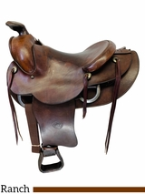 15 Inch Used Tex Tan Hereford Ranch Trail Saddle 972 *Free Shipping*