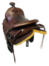 SOLD 2019/10/23  PRICE REDUCED! 15 Inch Used Tex Tan Hereford Ranch Trail Saddle 972 *Free Shipping*