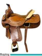 15 Inch Used Tex Tan Roping Saddle  *Free Shipping*