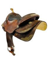 15 Inch Used Tex Tan Show Saddle 08 - 1515 *Free Shipping*