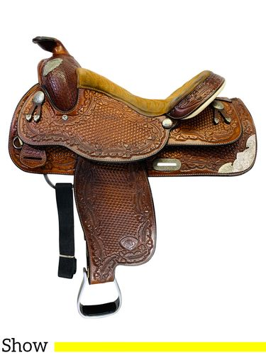 PRICE REDUCED! 15 Inch Used Tex Tan Show Saddle 08-1548 *Free Shipping*