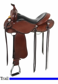 "15"" to 17"" Cashel Western Trail Saddle, Reg or Wide Tree"