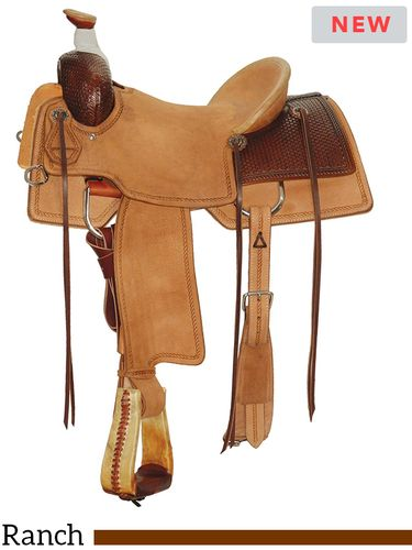 "15"" to 17"" Circle Y Allen Ranch Saddle 2127 w/Free Pad"