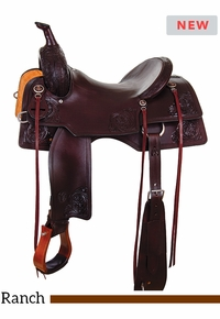 "15"" to 17"" Circle Y Cody Crow Versatility Saddle 1381 w/Free Pad"
