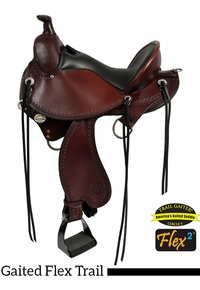 "15"" to 17"" Circle Y Kentucky Flex2 Trail Gaiter Saddle 1582 w/Free Pad"