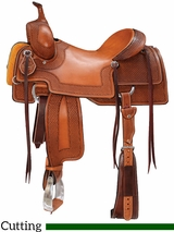 "15"" to 17"" Reinsman BW Cutting Saddle 4804 w/$210 Gift Card"