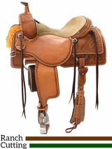"15"" to 17"" Reinsman Ranch Cutting Saddle 4823 w/$210 Gift Card"