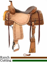 "15"" to 17"" Reinsman Ranch Cutting Saddle 4825 w/$210 Gift Card"