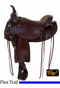 "15"" to 18"" Circle Y Omaha Flex2 Trail Saddle 1554 w/Free Pad"